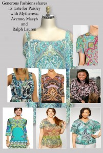 Women's Plus Size Clothing with Paisley