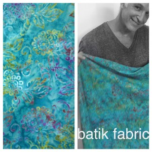 Working with batik