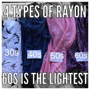4 types of rayon