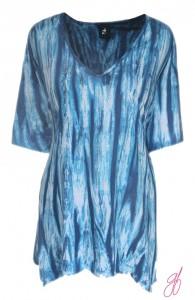 Plus Size Tie Dye Tunic Top | Cotton Jersey Plus Sizes Boho Top | Plus Size Womens Clothing, One Plus Size ( 1x to 3x)