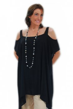 Open Shoulder Caftan Collection-Black