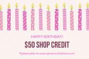 Birthday Shop Credit
