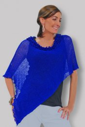 Curly Neckline Knit Collection-Blue