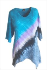 Tie Dye Tunic Short Sleeve