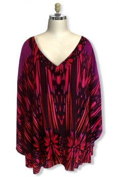 Plus Size Tunic Top - Poncho Style