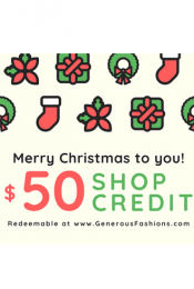 Christmas Shop Credit