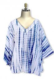 Big Sleeve Tunic Caftan - Navy