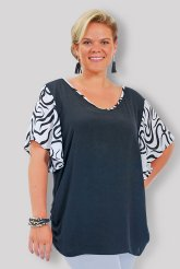 V-Neck with Crinkle Sleeves