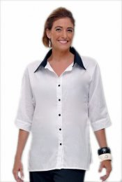 Classic Cotton Button-Front with Collar