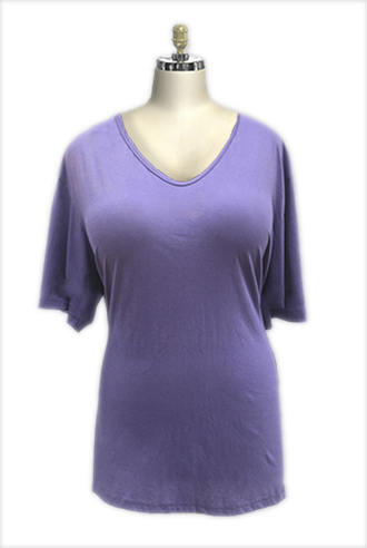 Simple Cotton Jersey Top - Click Image to Close