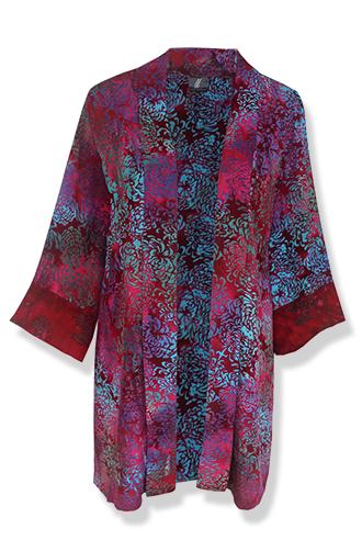 Burgundy Kimono Cardigan