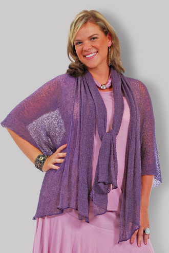 Knit Separate W/ Scarf-Amethyst - Click Image to Close