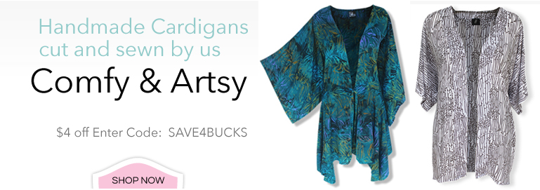 Comfy and Artsy Women's Plus Size Cardigans