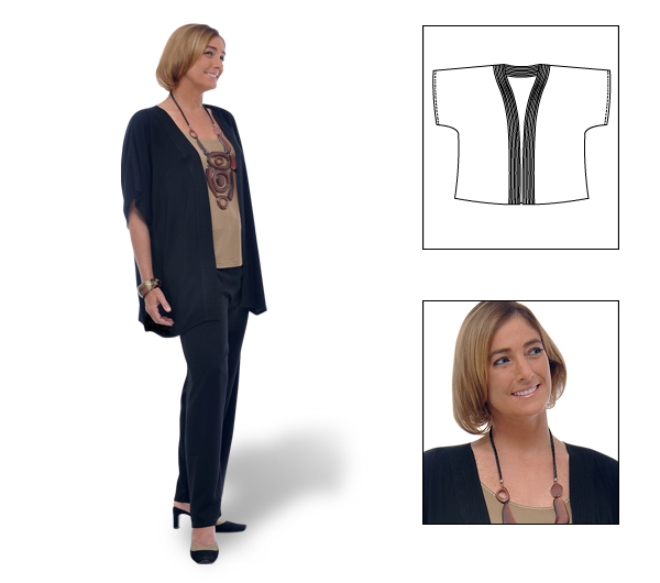 Open Front Cardigan - Click Image to Close