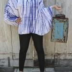 Plus Size Tunic Top, Tie Dye Rayon Caftan Top | Big Sleeve Poncho Bobo Style, One Plus Size (1x 2x 3x) Clothing