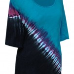 Tie Dye Plus Size Tunic Top | Cotton Top for Full Figured Women, Generously cut for Plus Sizes